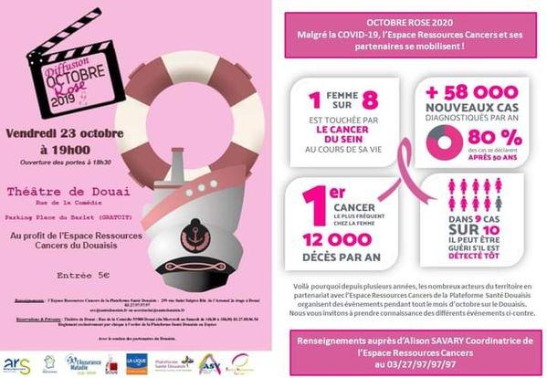 Affiche octobre rose théâtre de Douai 23-10-20